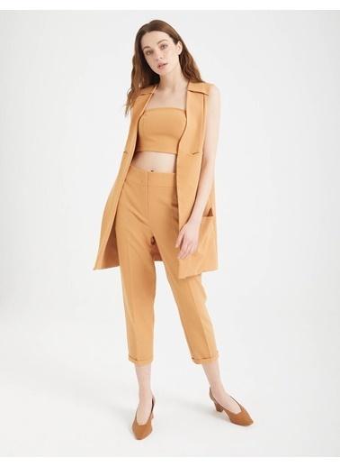 BGN Bronz - Yüksek Bel Rahat Kesim Pantolon Bronz